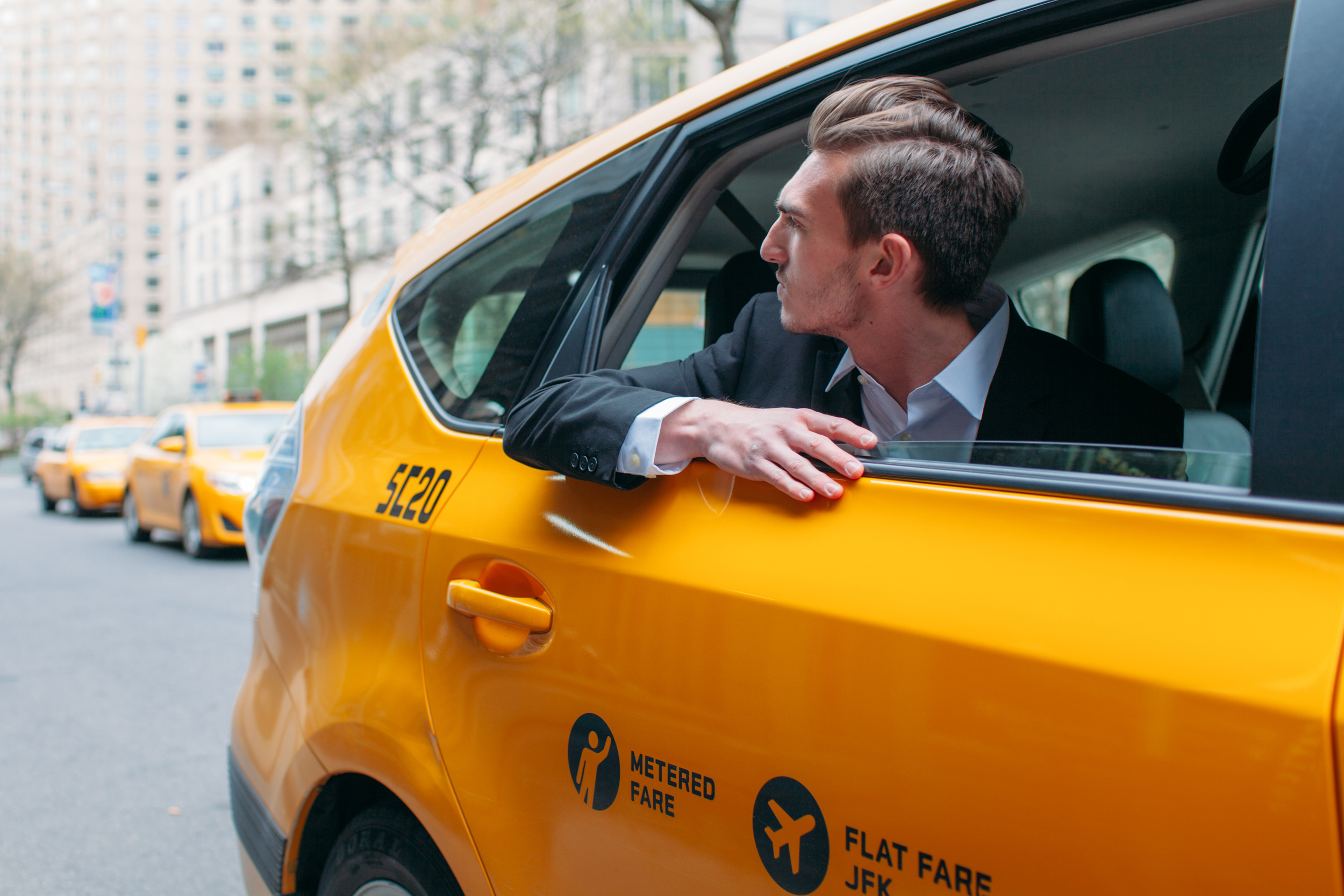 Grabbing a Taxi in New York City by The Finches