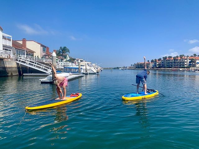 Nice form, Jake's! So much fun getting these two moto & yogi guys to their first paddle board yoga class in Channel Island Harbor. Thank you for bringing your good vibes and strong practice! 🌊🌞🐬 #seadogyoga #yogaonsup #supyoga #venturasupyoga #oxnard @visitoxnardca