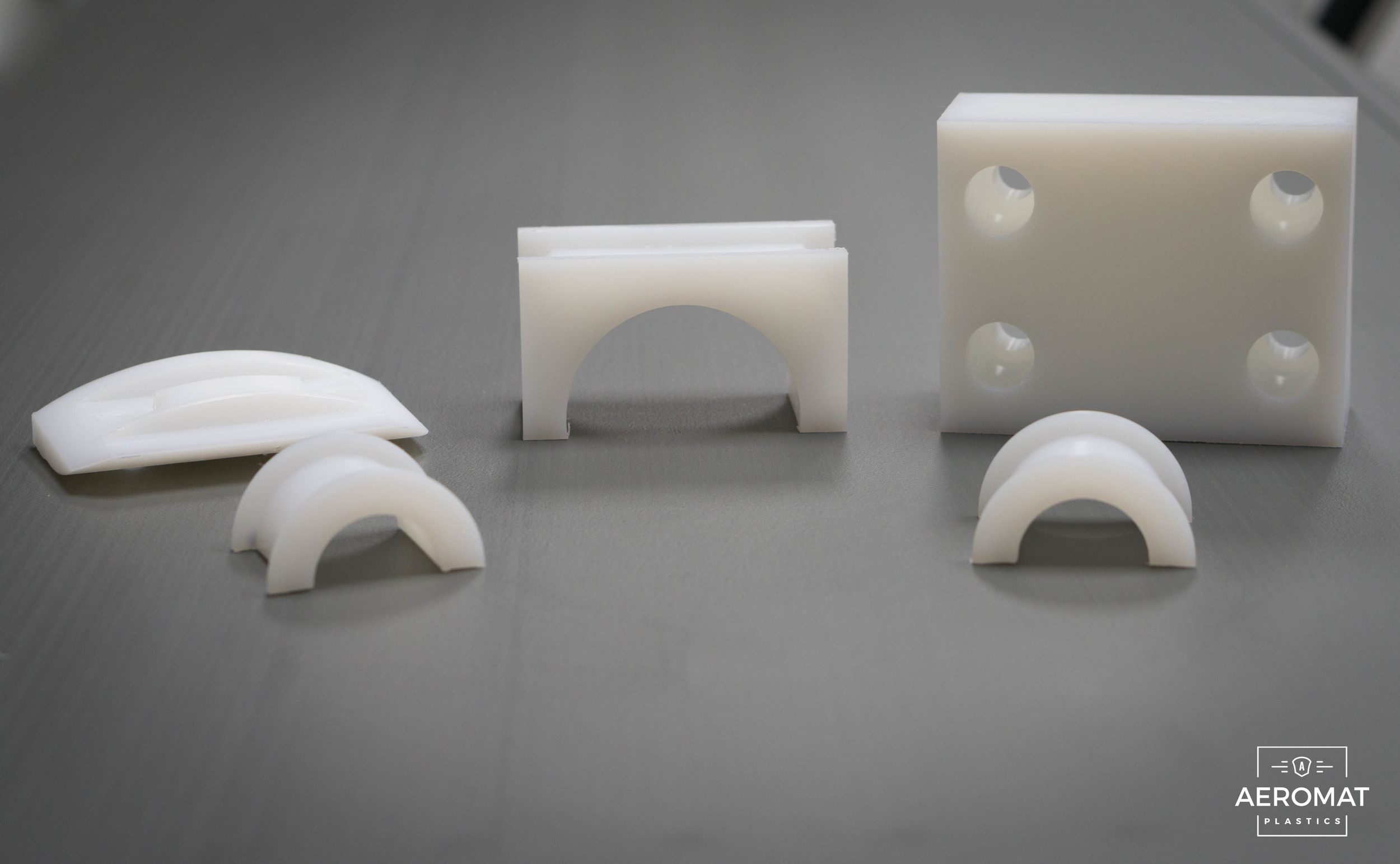 Natural UHMW Machined Parts - 3