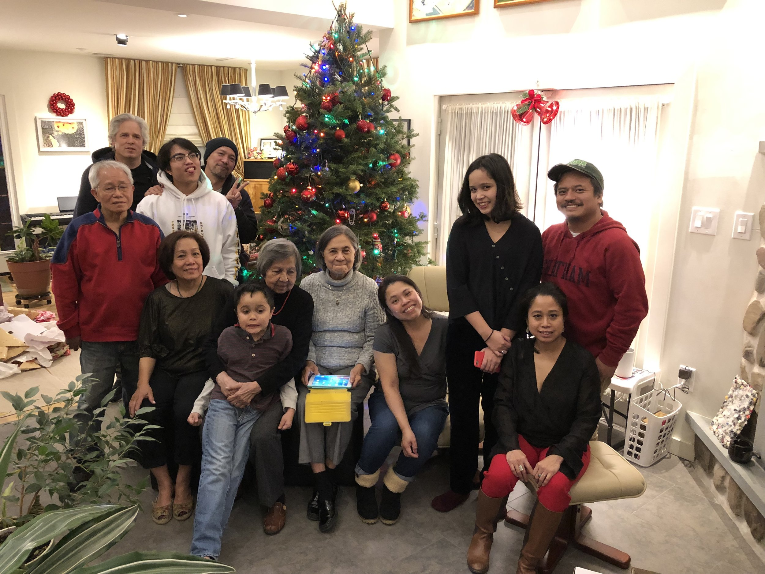 Celebrated our annual Christmas day dinner with the larger family.