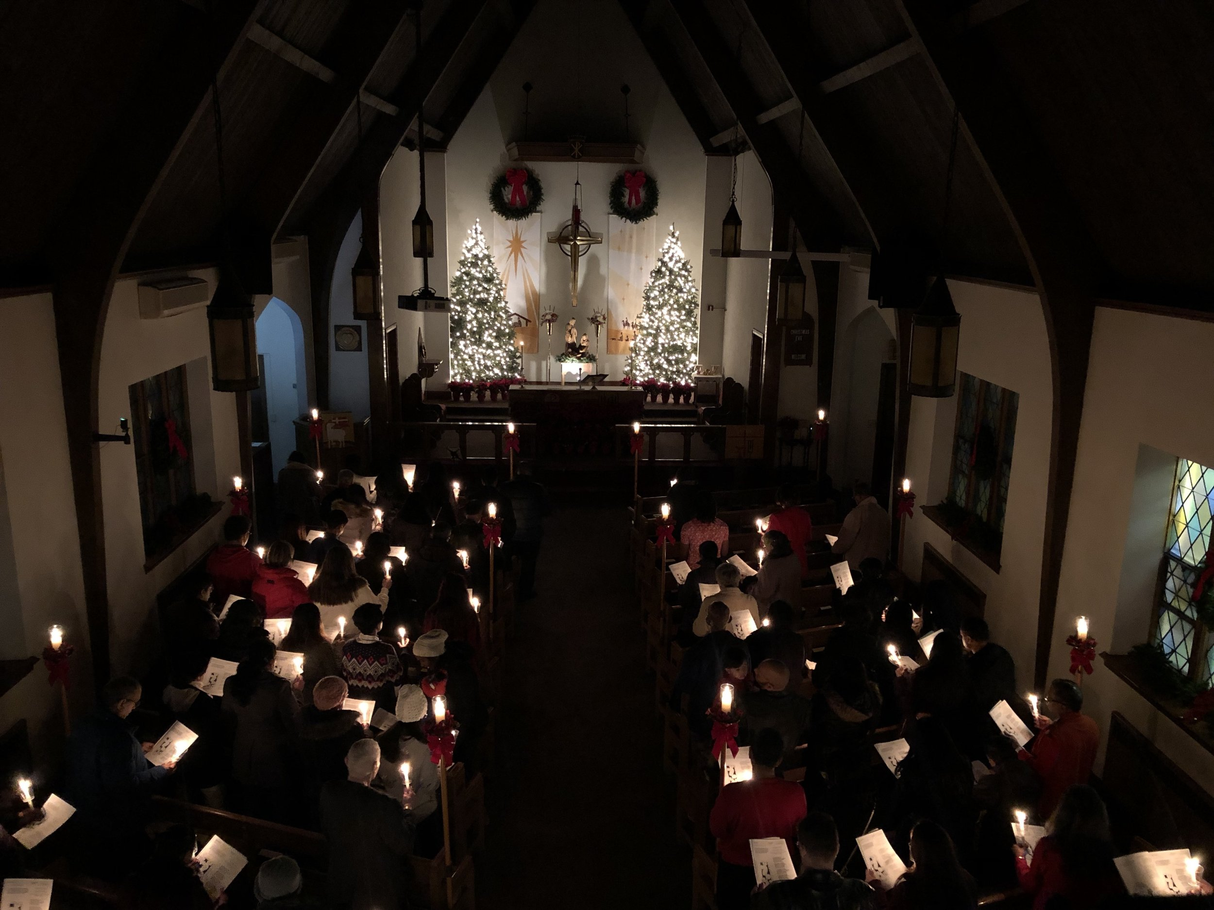 6:30pm Christmas Eve service at Our Saviour Lutheran Jamaica.