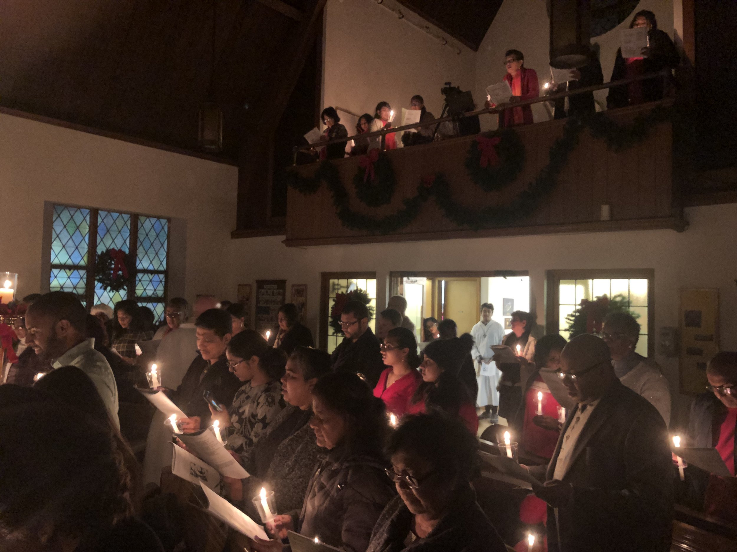 8:00pm Christmas Eve service at Our Saviour Lutheran Jamaica.