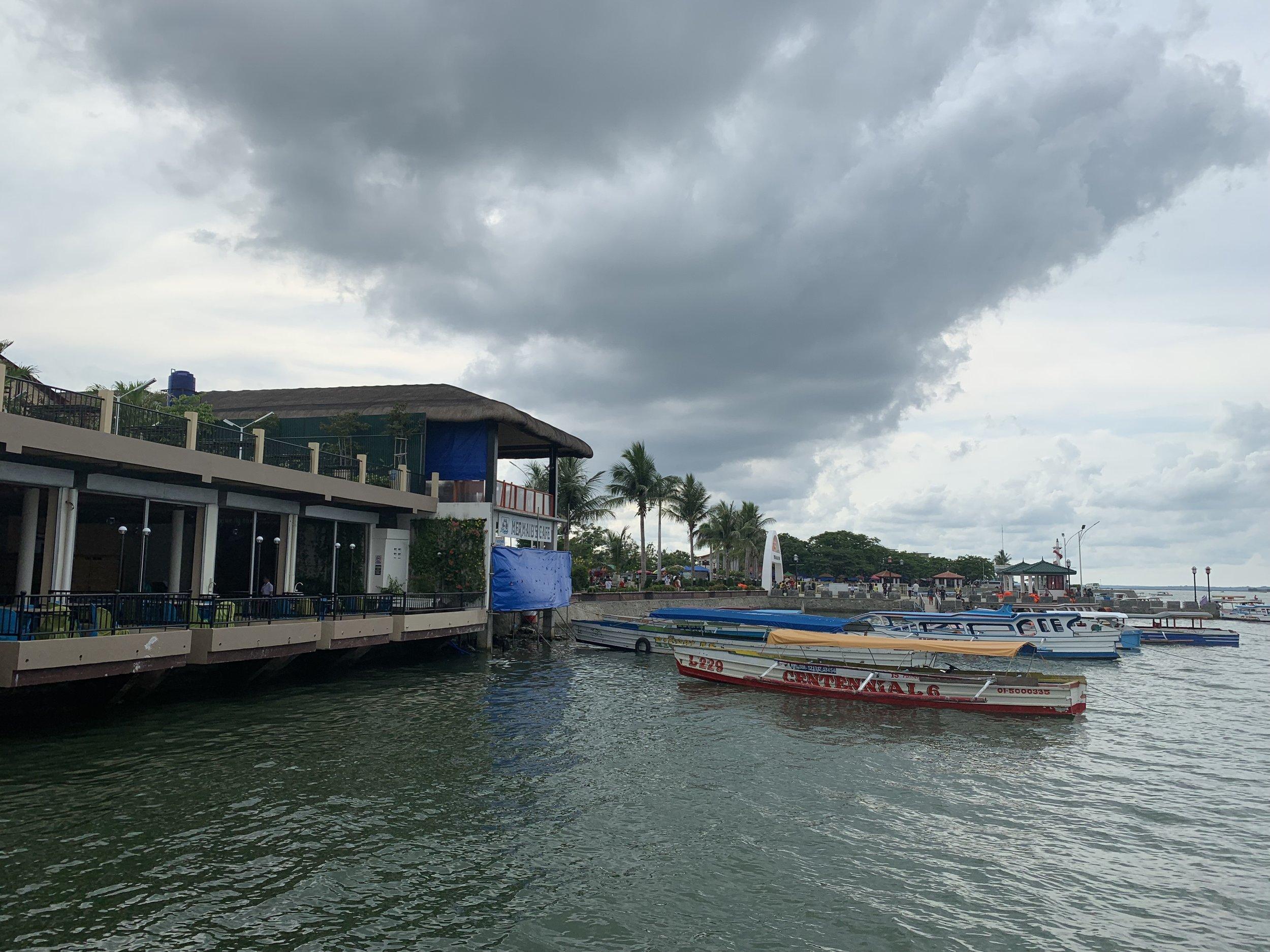 "Visiting the ""Hundred Islands of Lingayen"" port."