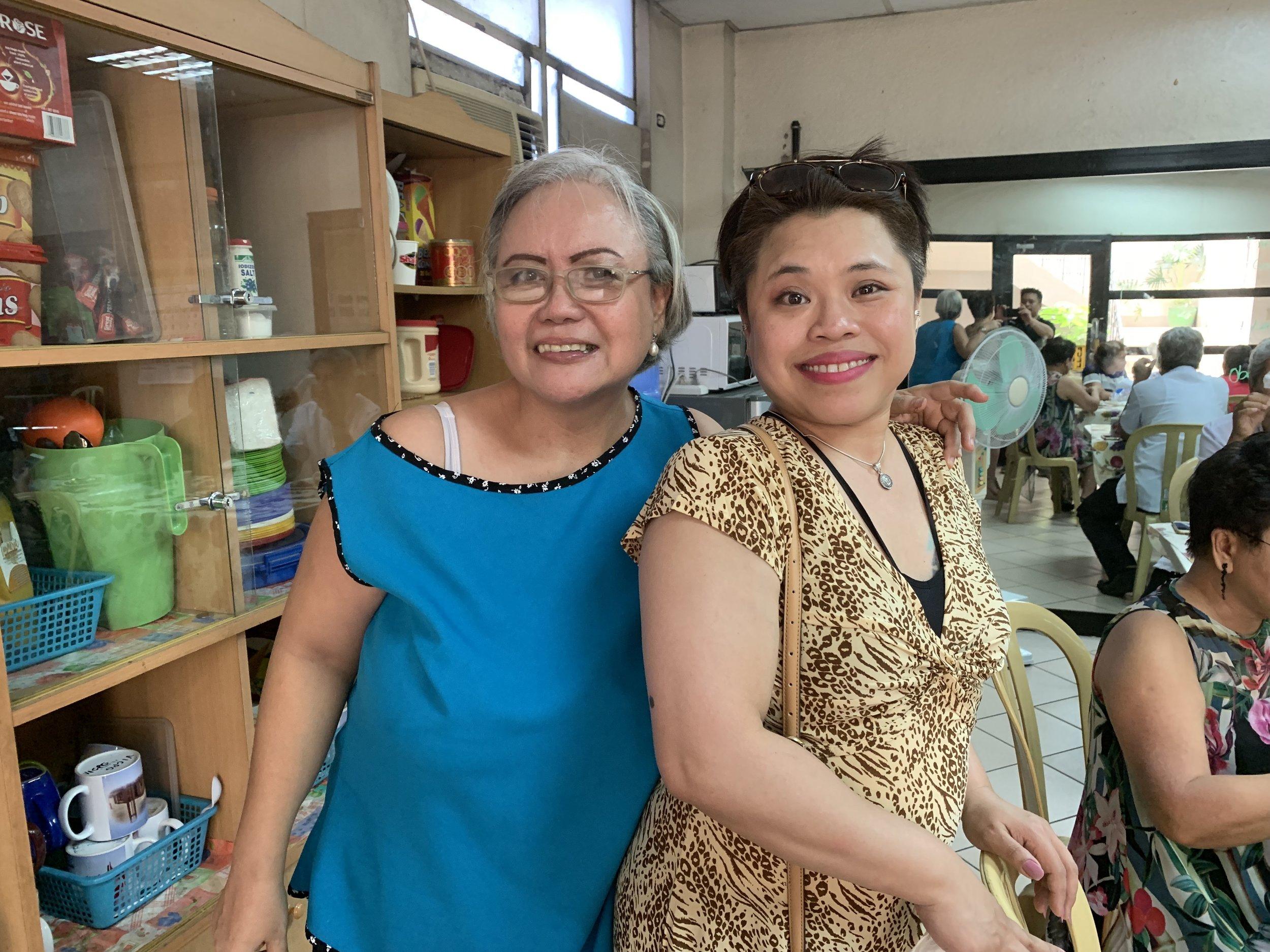 Gayle with Lilian Alba-Cera.