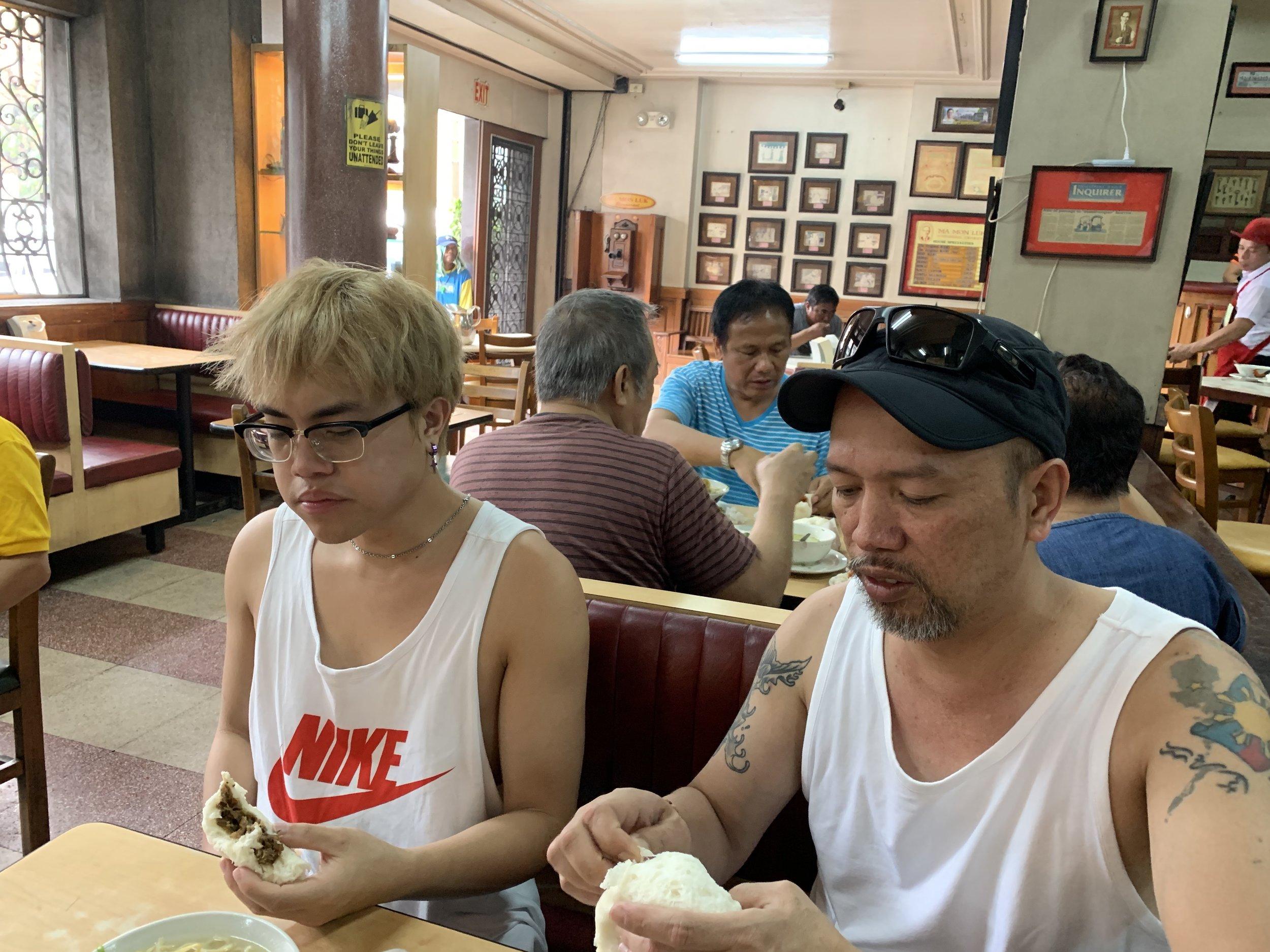"A ""must"" eatery ( Ma Mon Luk , Quezon Avenue)."