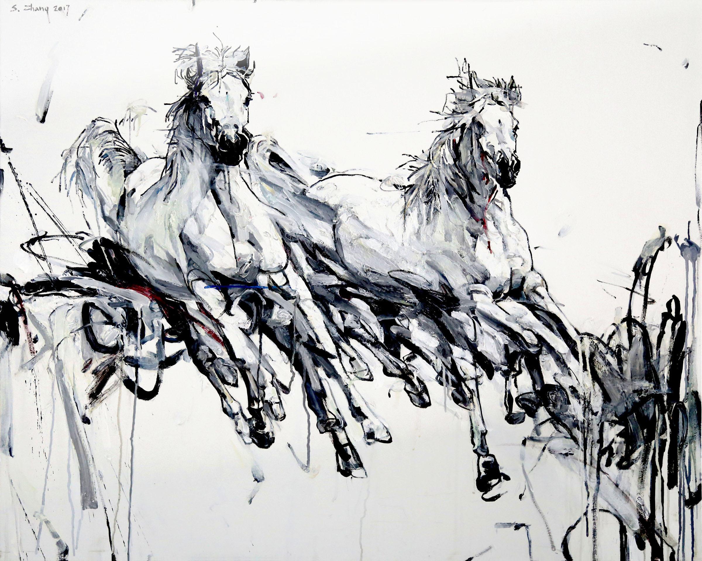 White Stallions