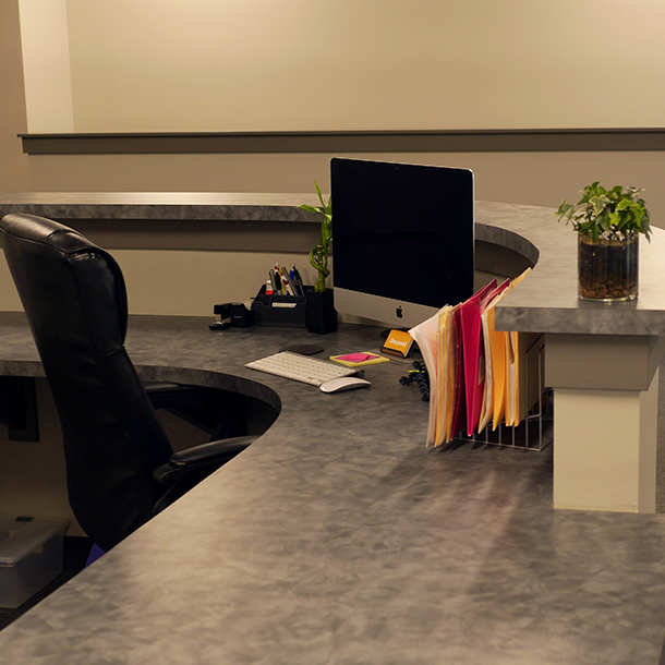Finished reception desk!
