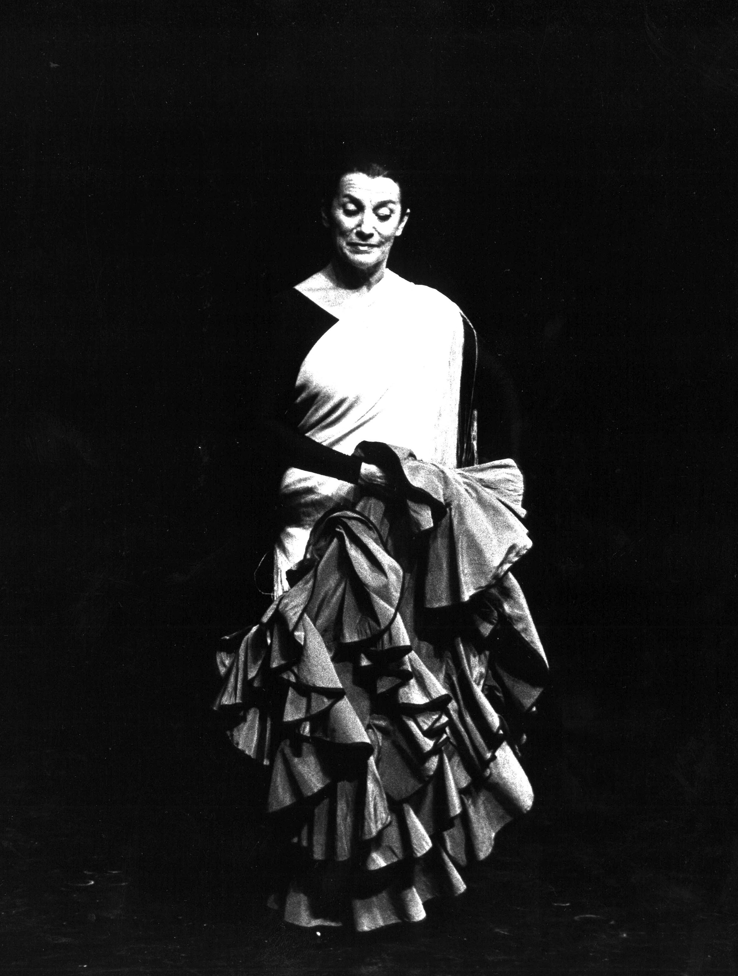 Susana Robledo demonstrates Spanish dance at the St. Lawrence Centre for the Arts, February 1979.