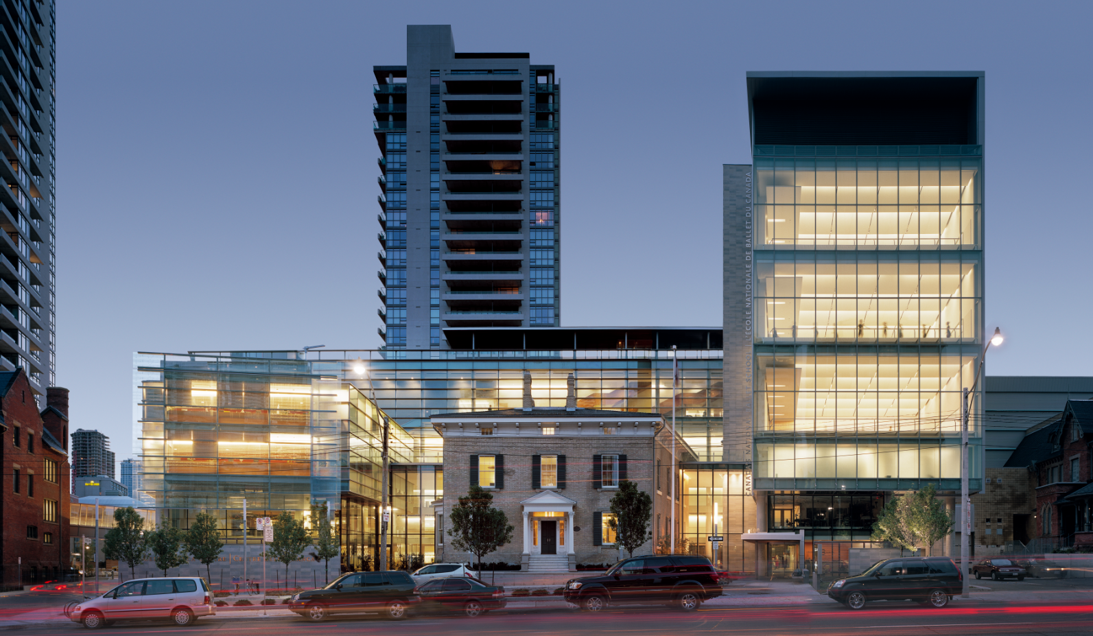 The completed Celia Franca Centre, seen from Jarvis Street.
