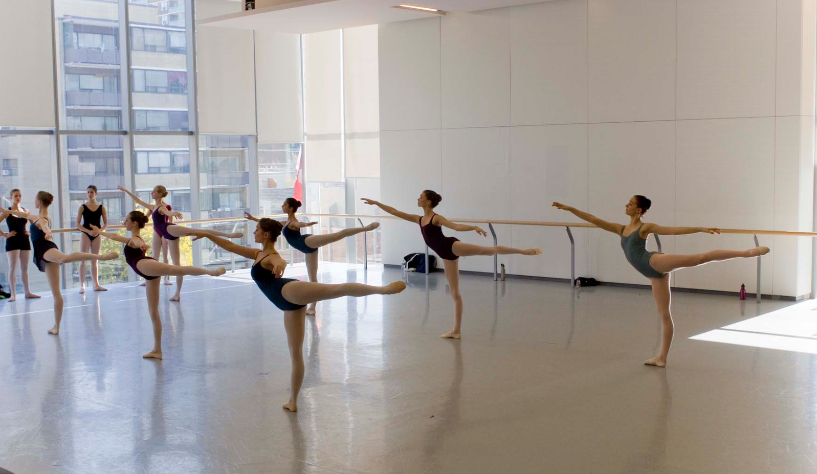 A rehearsal during AI 09 united students from professional ballet schools around the world in NBS' studios.