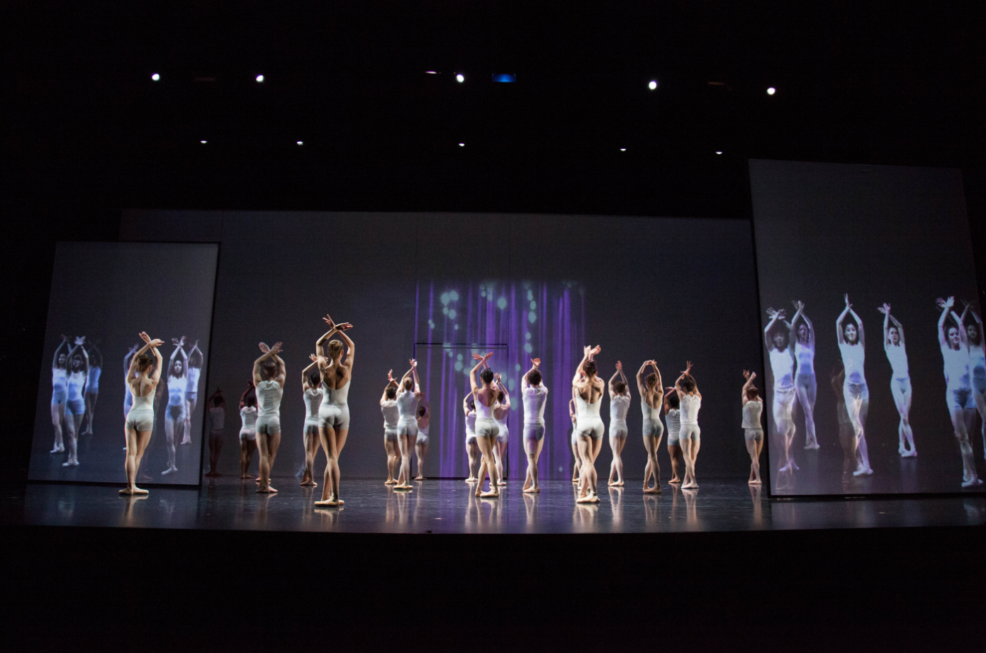 NBS dancers perform  STREAM,  a work that was choreographed by Shaun Amyot and Michael Schumacher for AI 12.   STREAM  featured dancers in Toronto and Amsterdam, performing and interacting together through a live-streamed feed.
