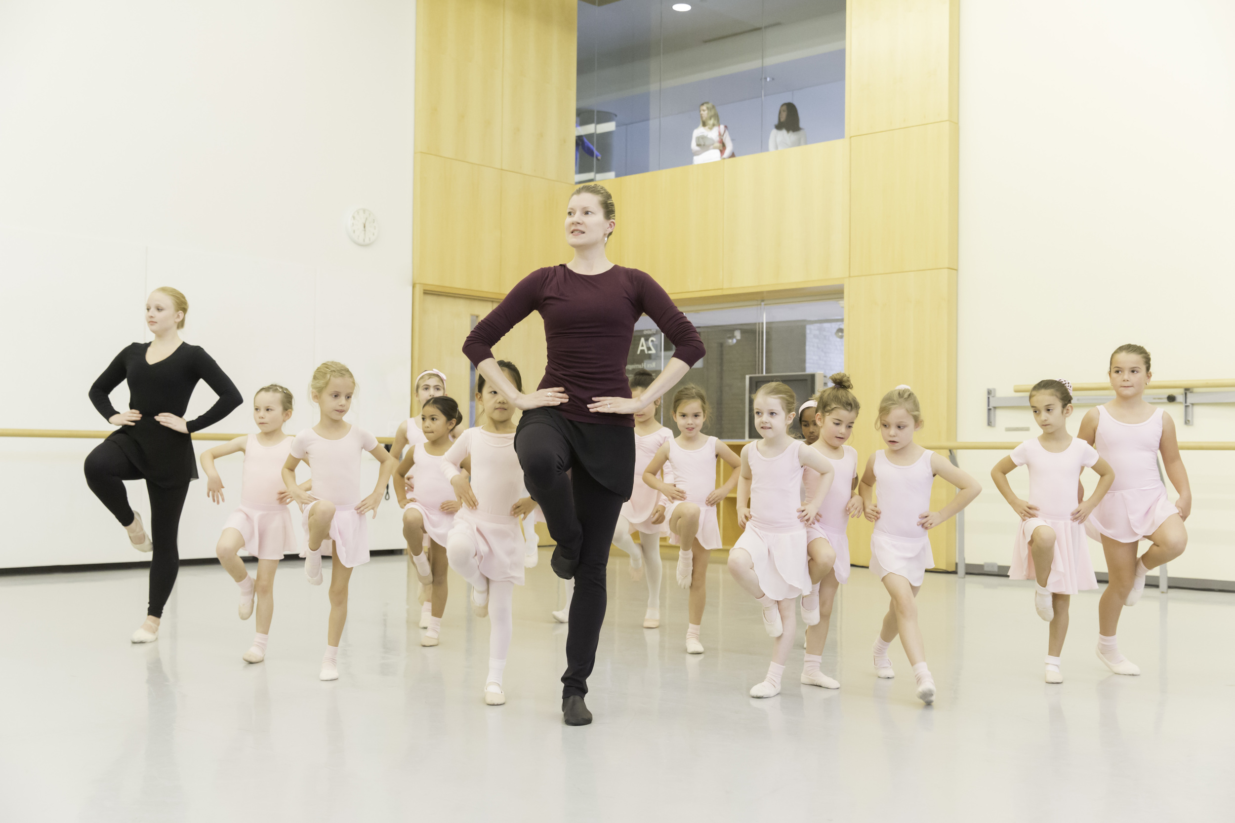 Students in the TTP gain valuable hands-on teaching experience while working with young recreational dancers.