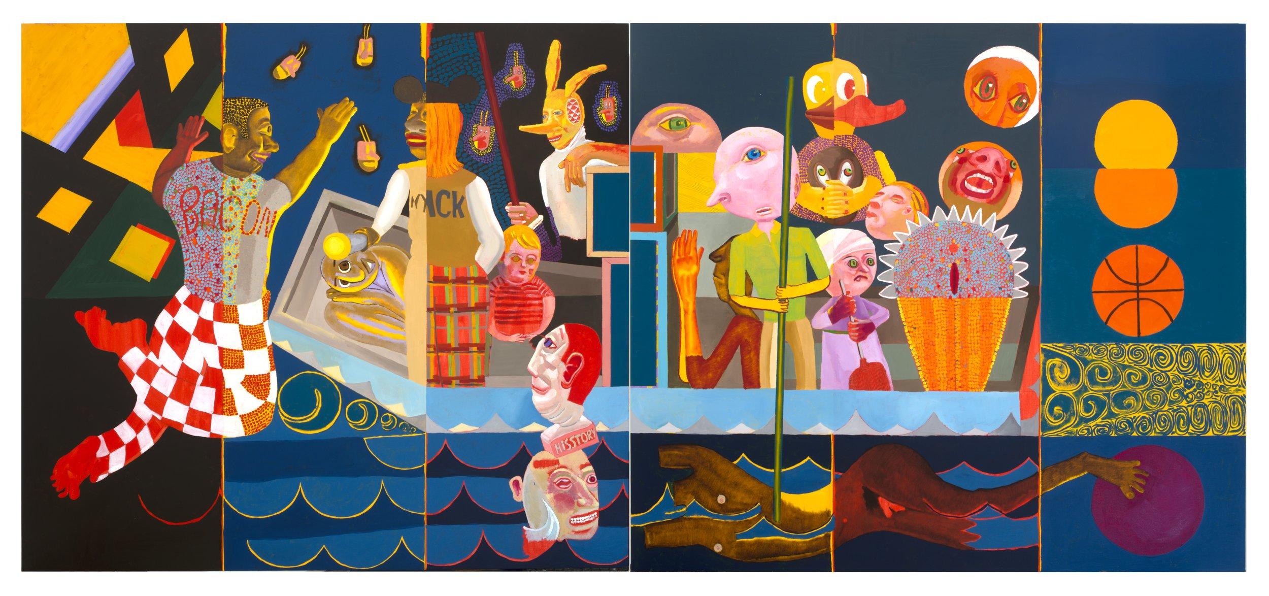 "Nyack , oil on canvas, 5"" x 11"", 2013"