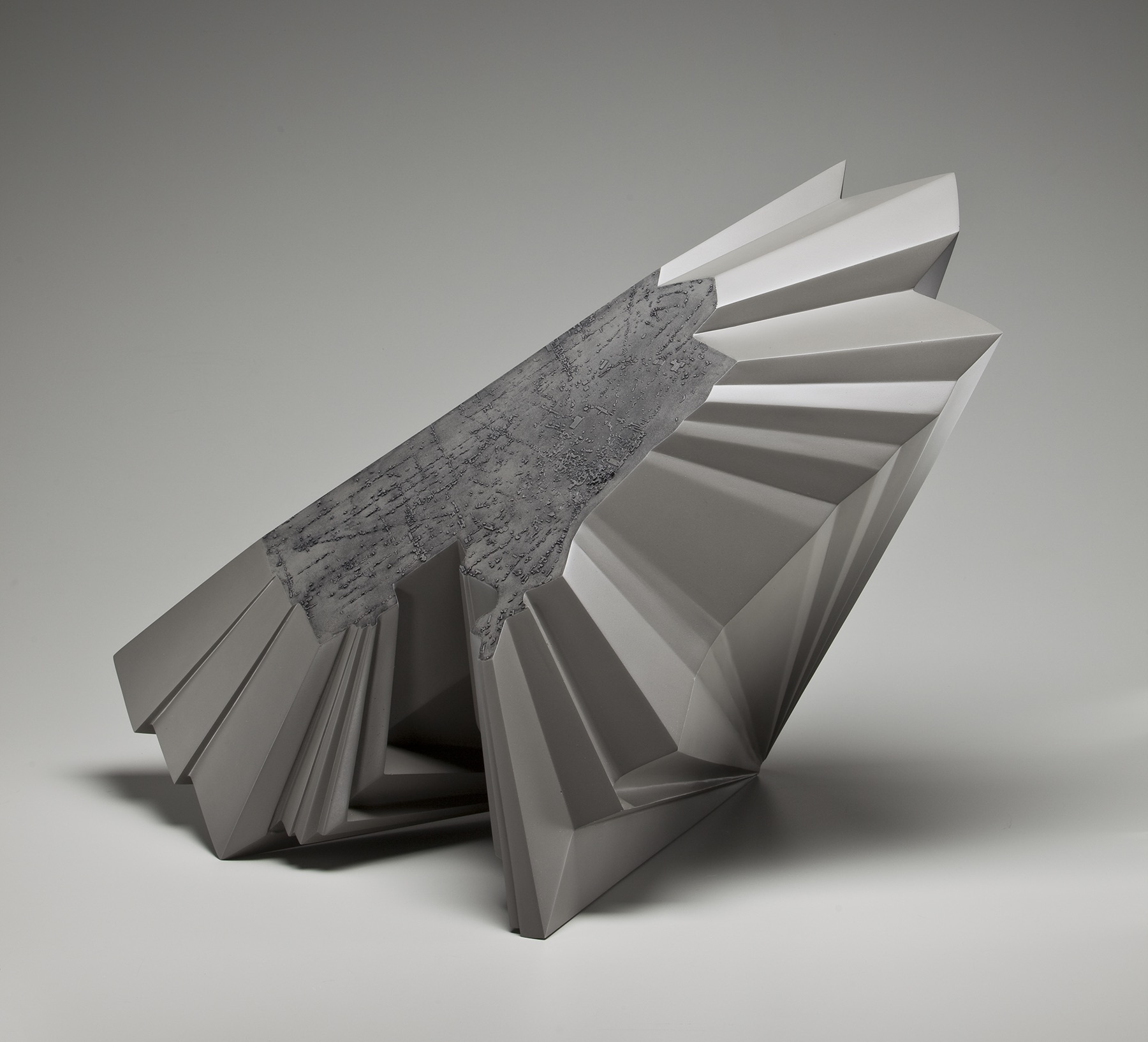 "Detroit Population Shift,  cnc milled and cast aluminum, 36"" x 24"" x 18"", 2009, Photo: Tim Thayer"