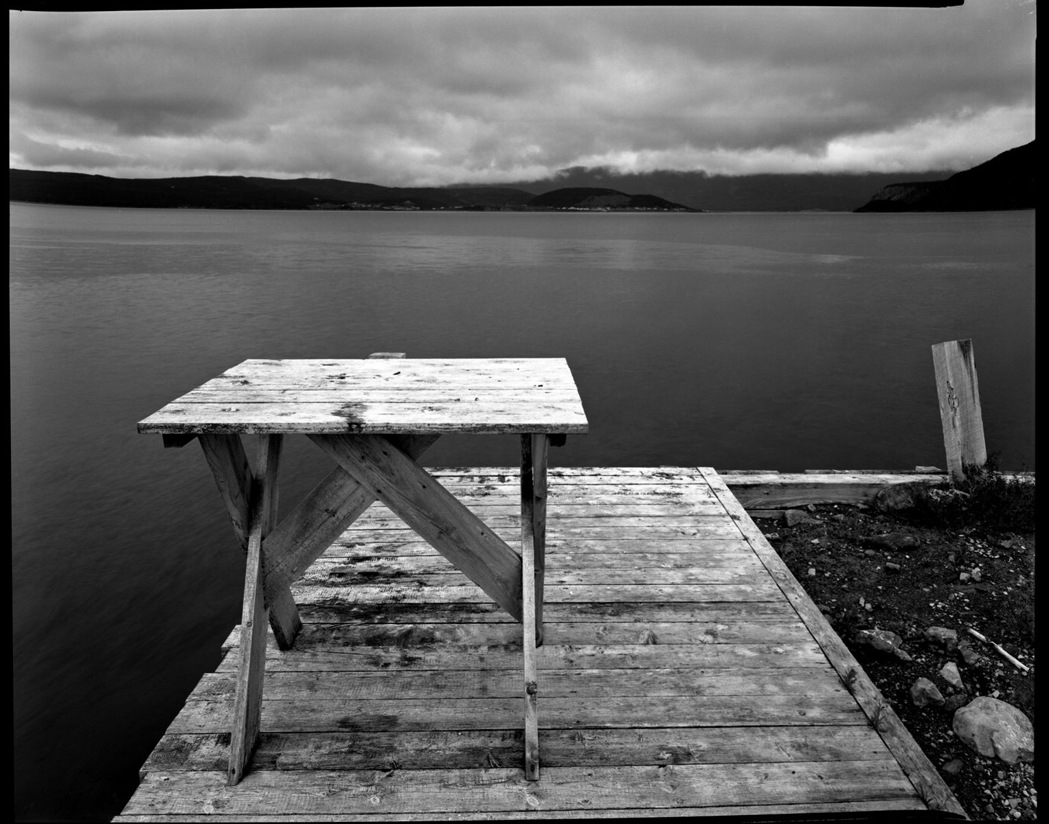 Curzon Village, Bonne Bay, Newfoundland, platinotype, 2005