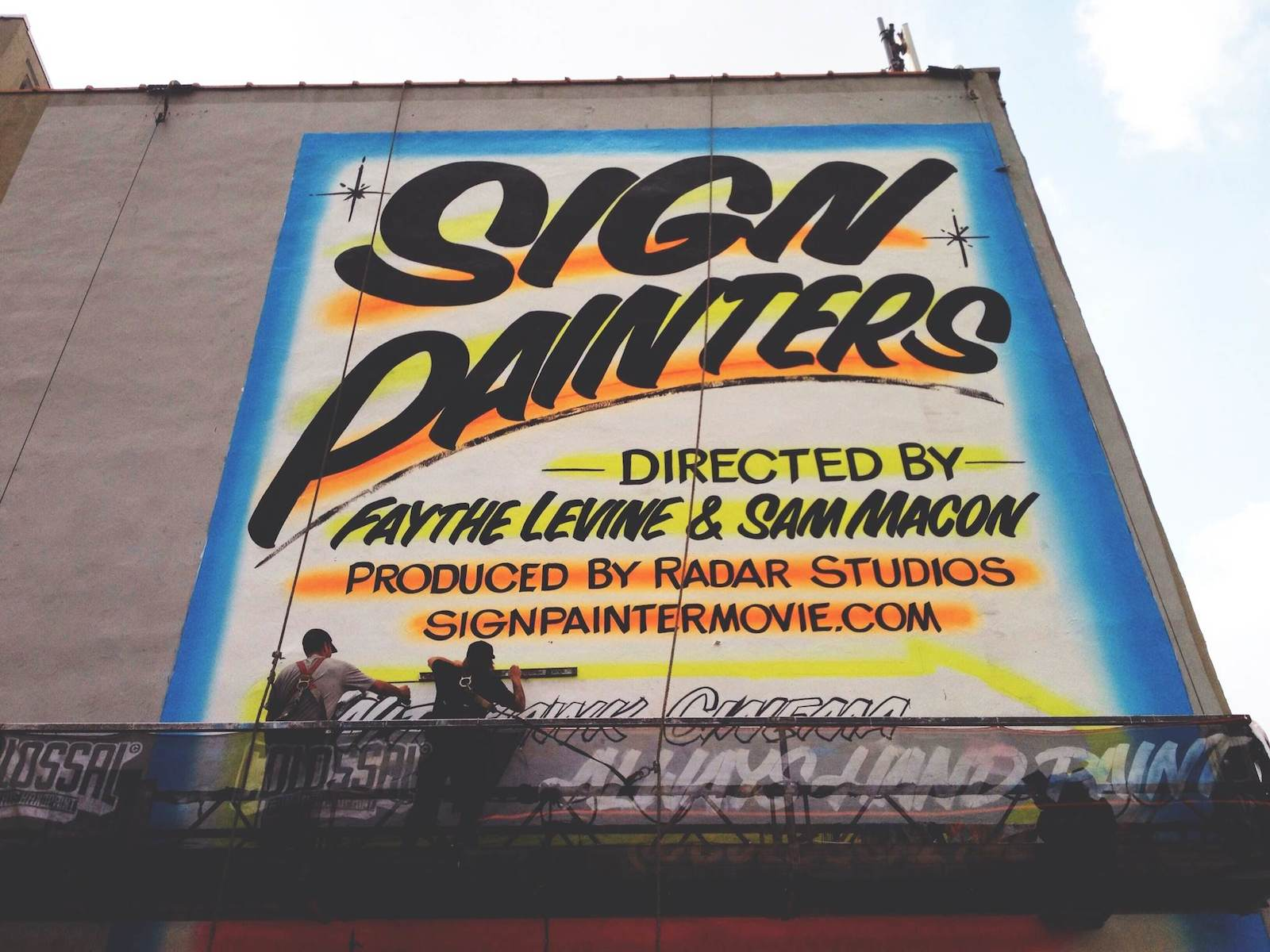 Faythe Levine   Production Still from Sign Painters   Documentary 2013