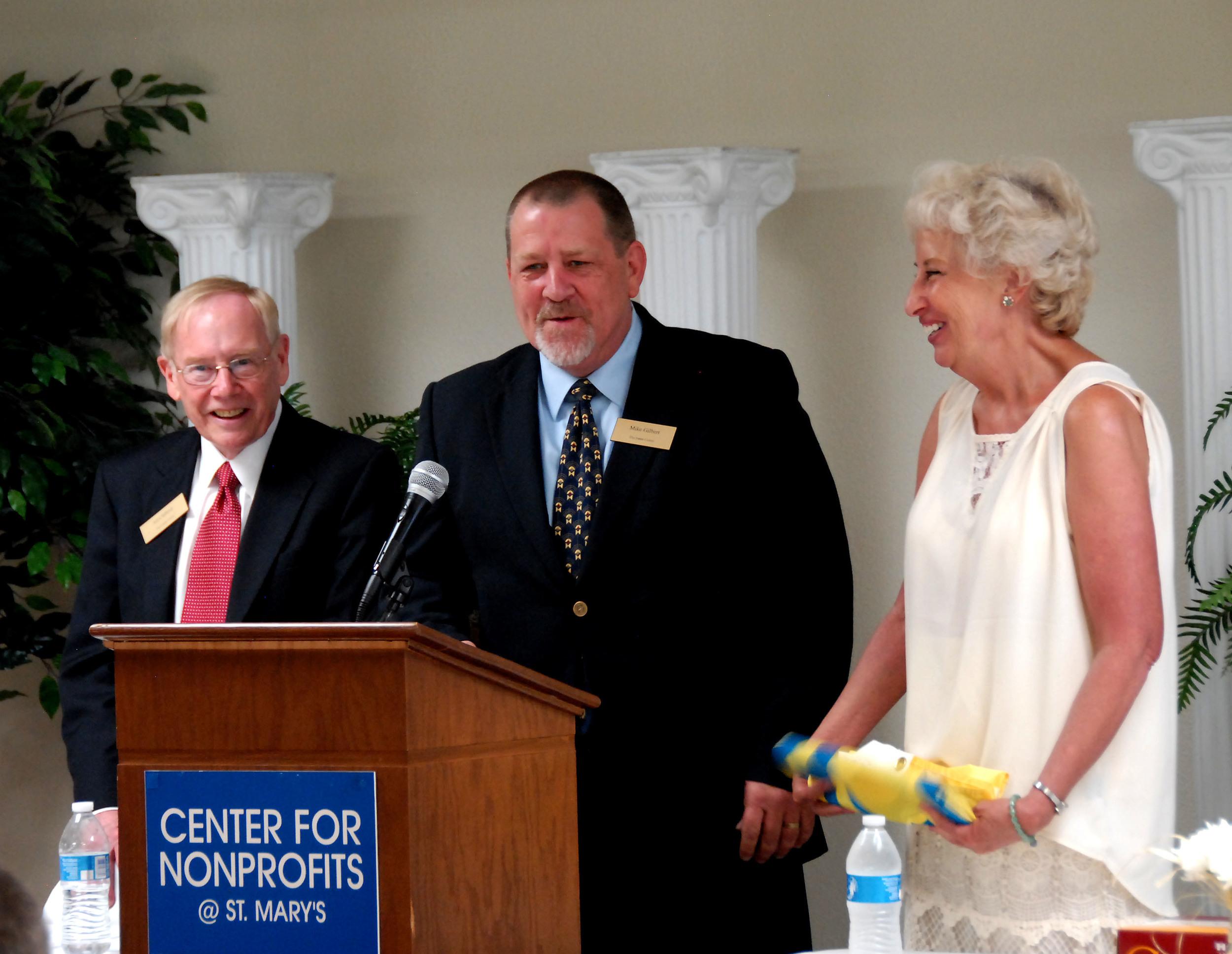 Jones Center CEO Ed Clifford, Jones Center COO Mike Gilbert, Jones Trust Director Susan Barrett