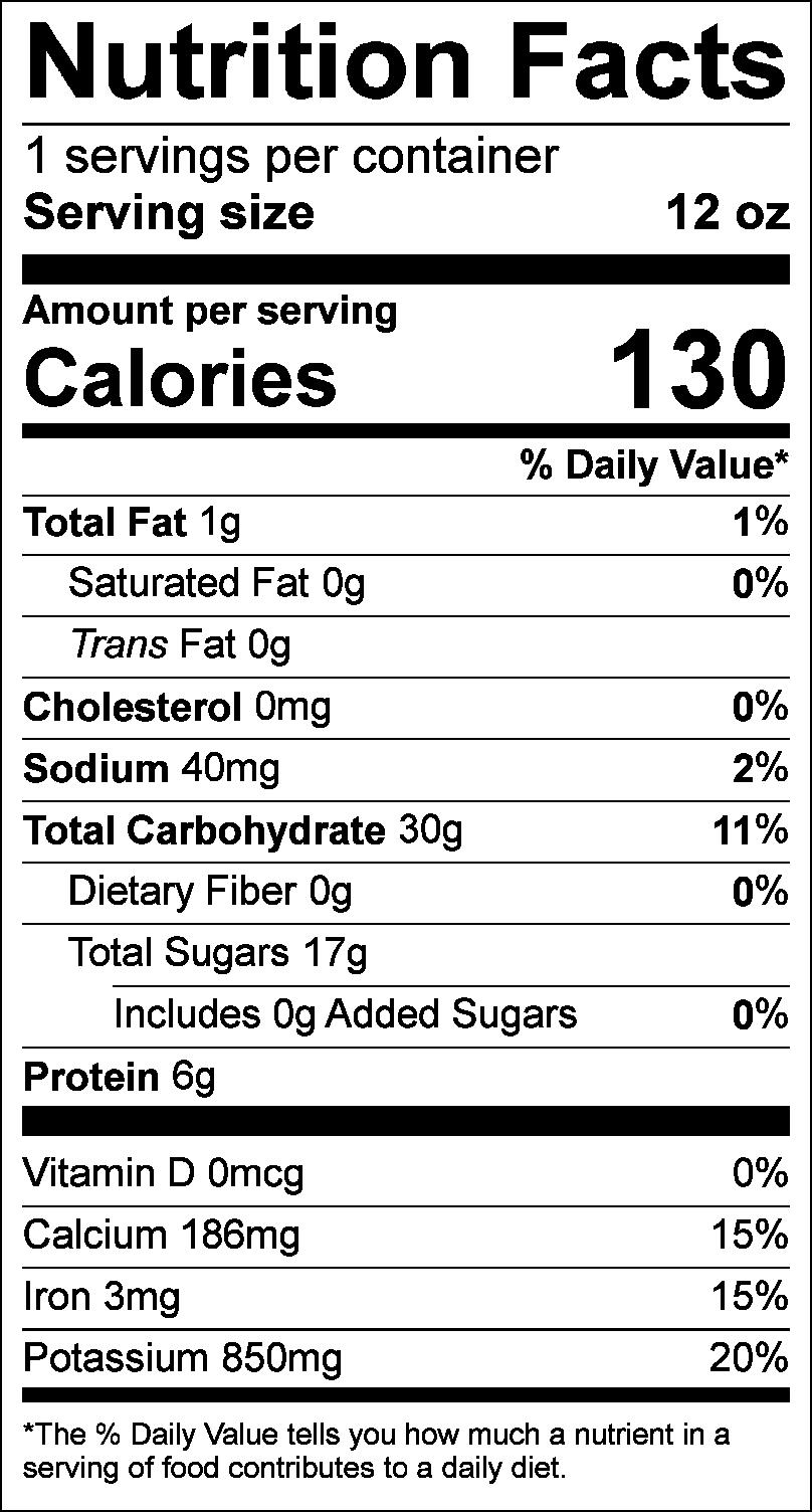 Nutrition Facts: E'Ville Green