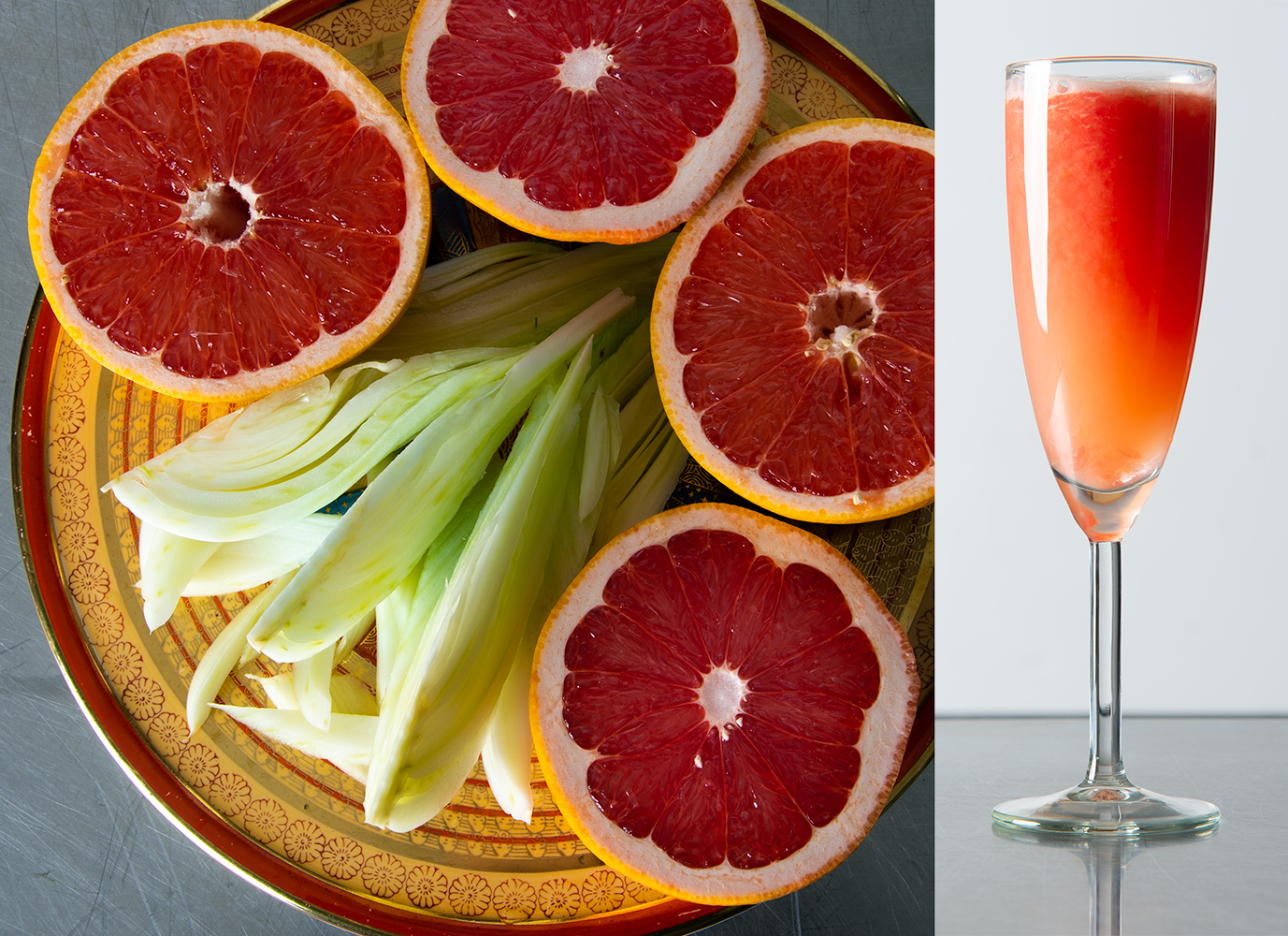 Red Grapefruit and Fennel are the two ingredients in El Presidente, the world's most luxurious juice.