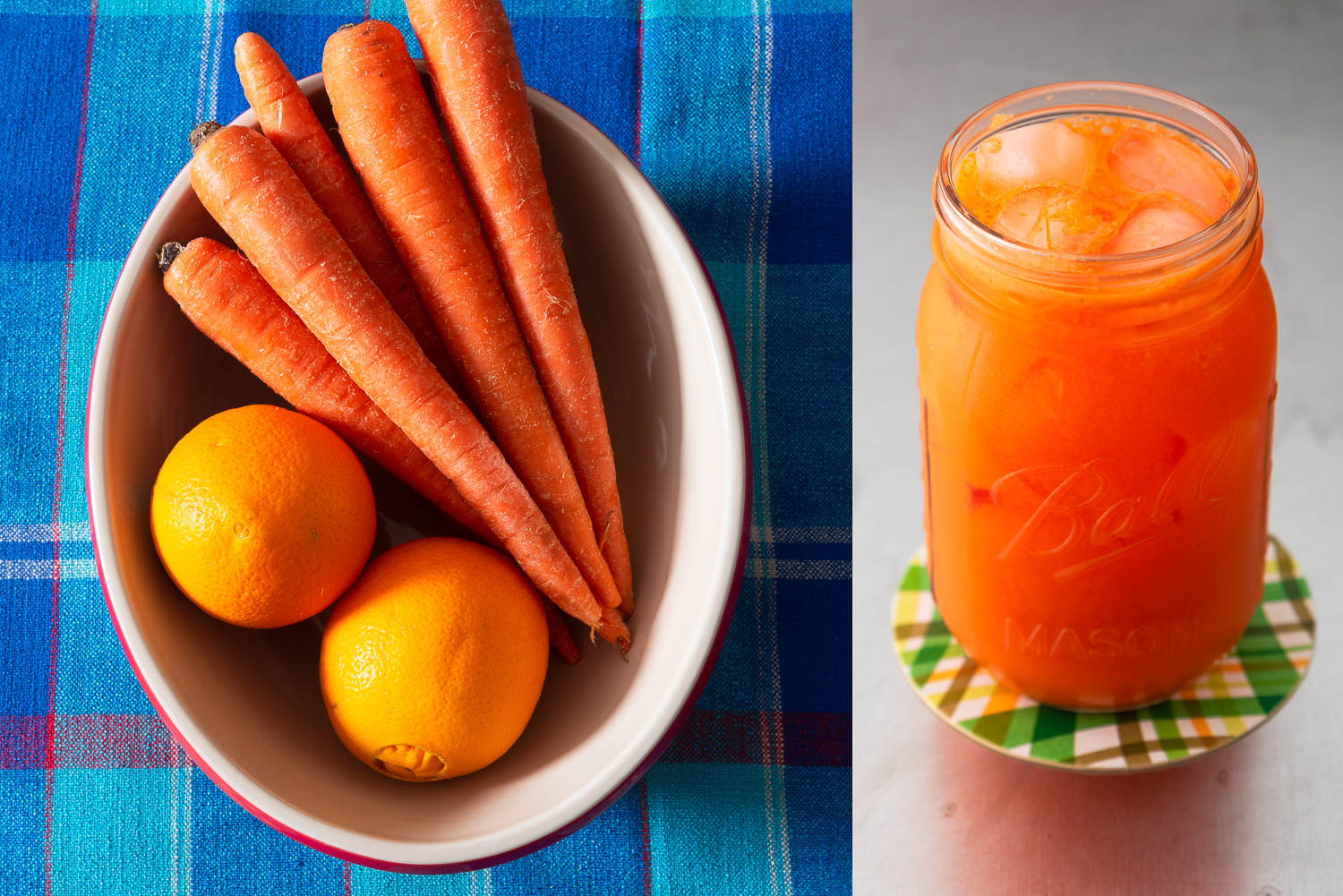 Orange carrot juice: Easy to make, easy to love.