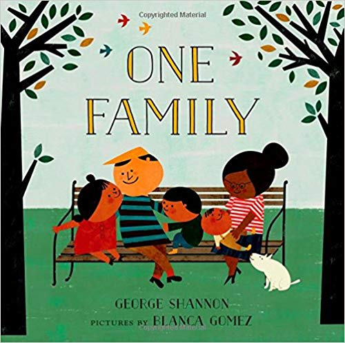 One Family by George Shannon - This delightful counting book celebrates families of all sizes.