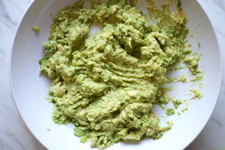 Mash up all your avocado thoroughly.
