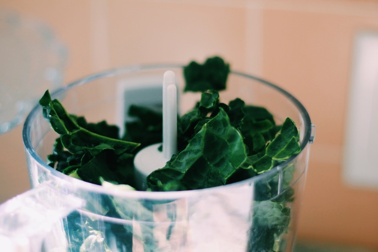 Chop that kale up till it resembles kale no more!