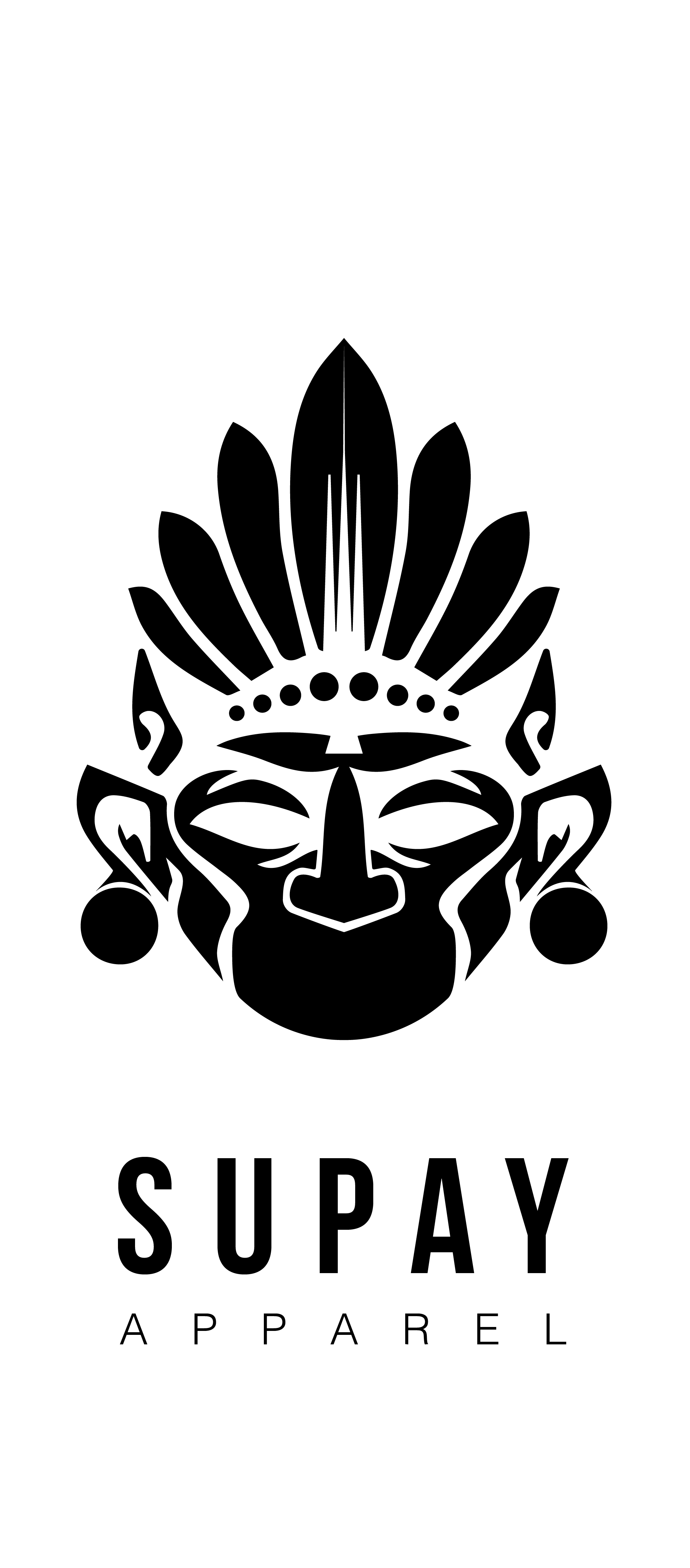 Supay Apparel Logo Design - This logo was created for a NYC apparel company. It was inspired by Incan and Aztec drawings, pottery and art.