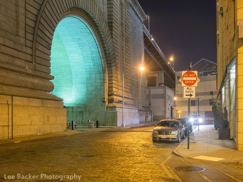 Arch Under the Manhattan Bridge, Brooklyn