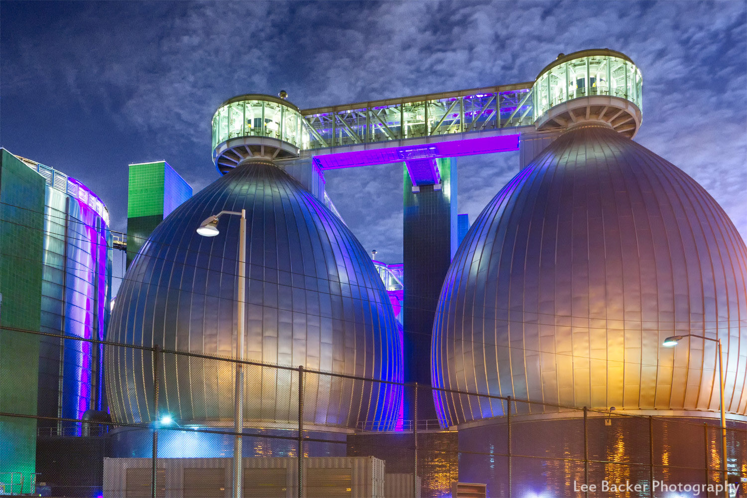 Colored Lights, Newtown Creek Wastewater Treatment Plant, Brooklyn
