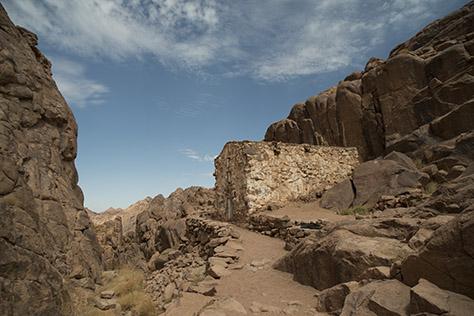 Panagia Oikonomissa (Stewardess) marks the spot where the Theotokos appeared to the monks on Mount Sinai.
