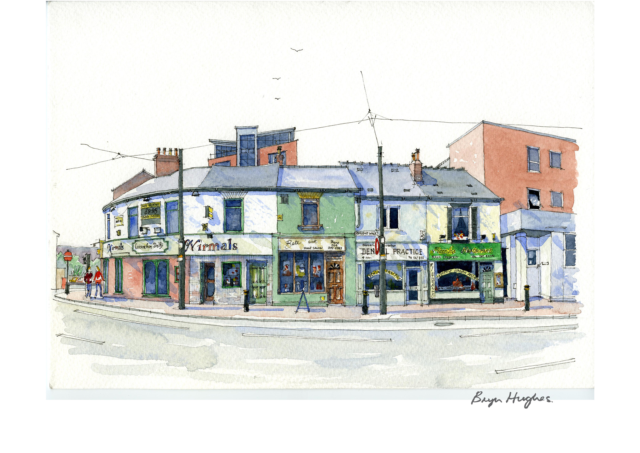 Watercolour Painting Nirmals Glossop Road Sheffield