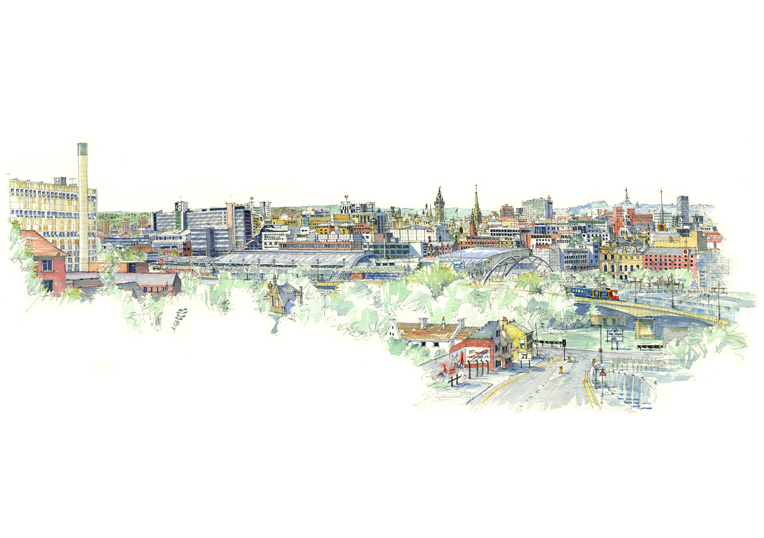 Sheffield Skyline now available for my shop
