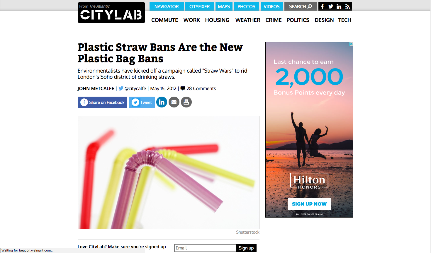 - Plastic Straw Bans Are the New Plastic Bag Bans