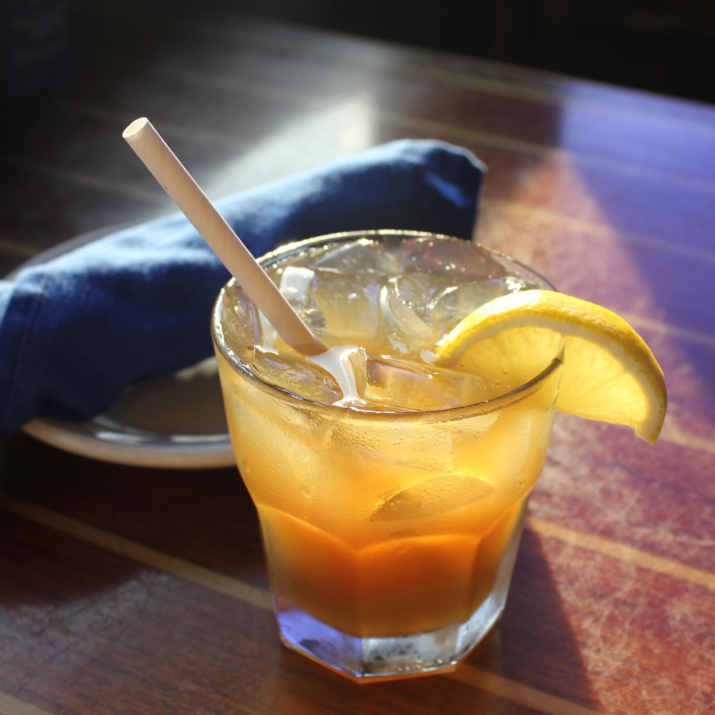 "6"" White Cocktail Straw"