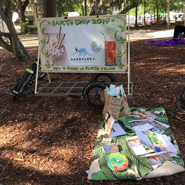 Successful Earth Day week in Florida! Thankful to our wonderful supporters. #earthday #earthweek #paperstraws #ecofriendly