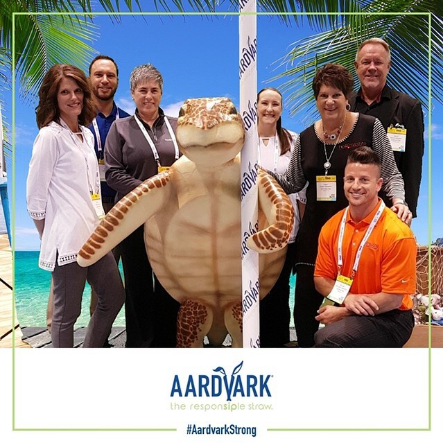 Thankful for a team that works so hard to produce the best quality straws on the market. Stop at our NRA booth today at the @nationalrestaurantshow  #paperstraws #aardvark #seaturtleapproved