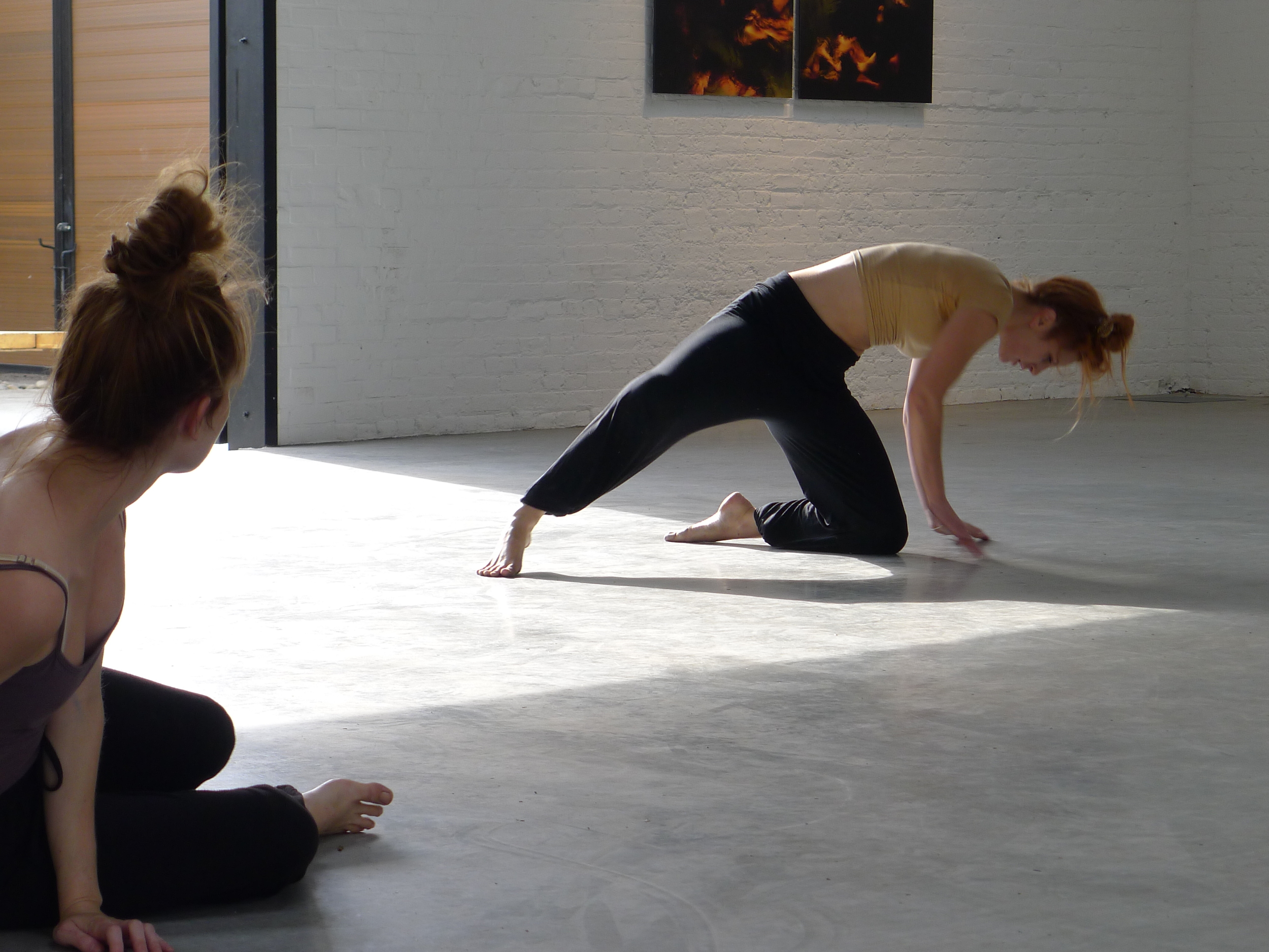 Gowanus Open Studios with performers from LoudHoundMovement. Photo: Mallory Lynn.
