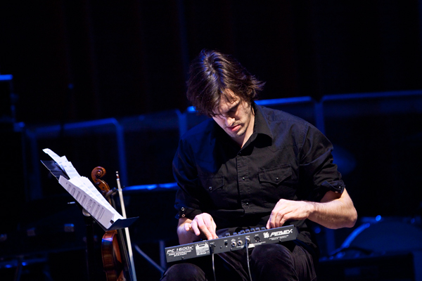 Christopher Tignor  plays a beautiful electronic set during Creative Mornings on July 24.