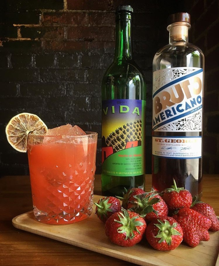 Strawberry Mezcal | photo courtesy of VISTA Ramen