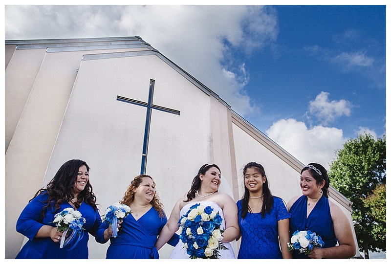 bridesmaids and bride - san antonio wedding photographer