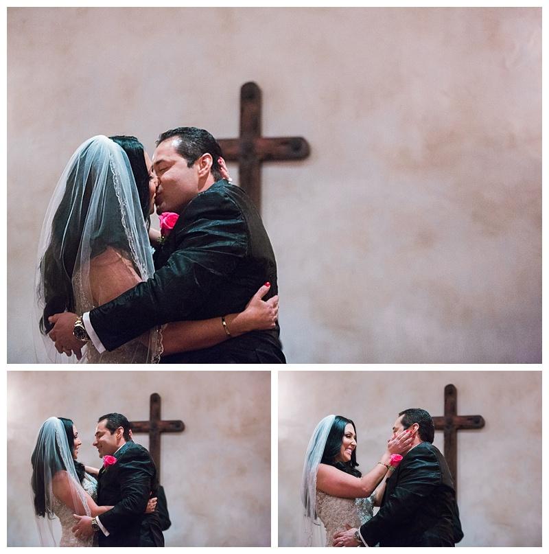 first kiss - san antonio wedding