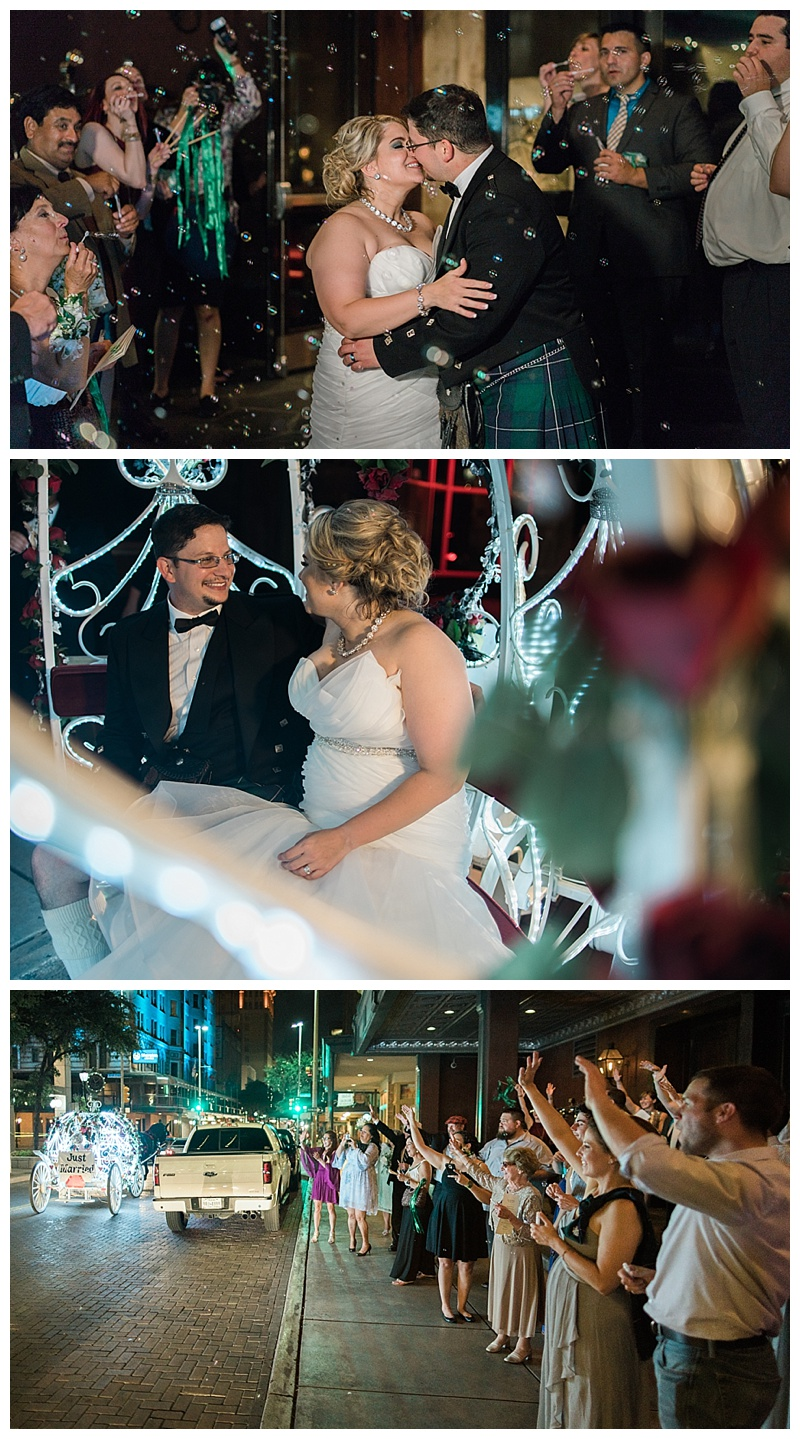 send off in carrage - san antonio wedding photographer