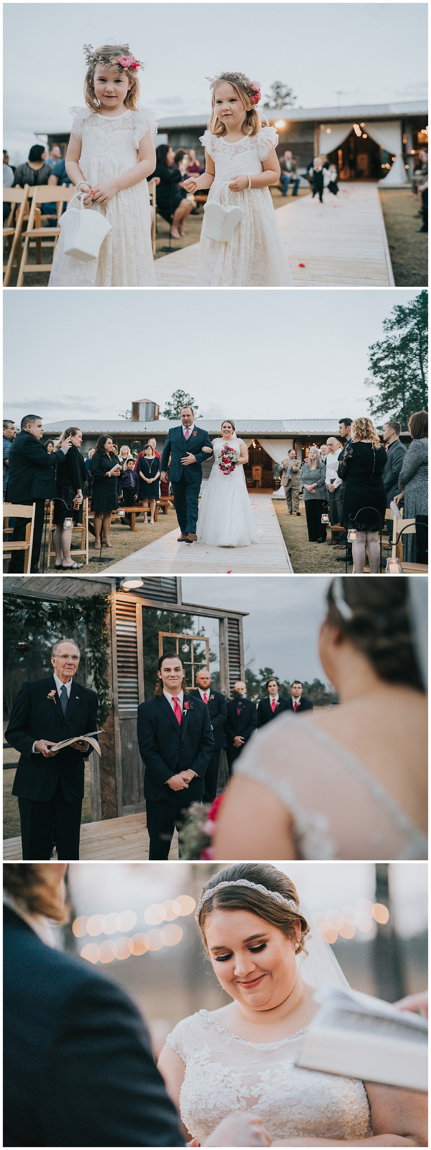 ceremony - Pines Barn, Houston, TX