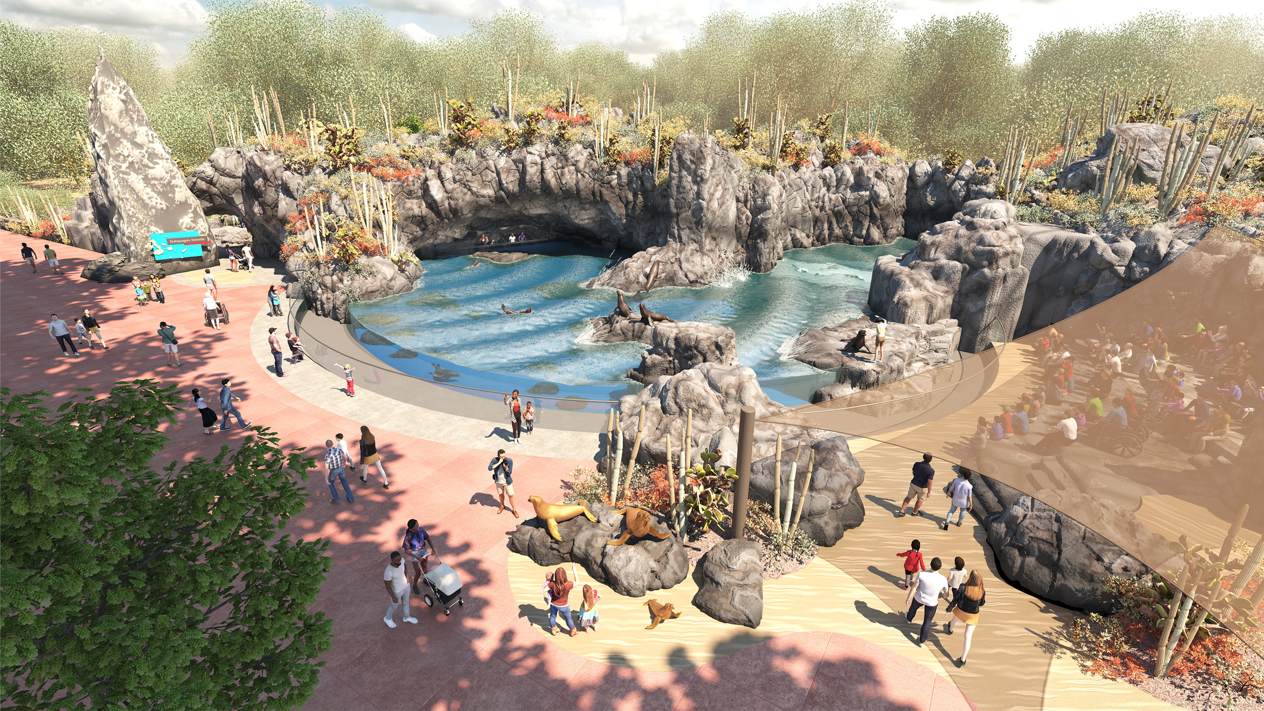 Houston Zoo sea lion exhibit rendering