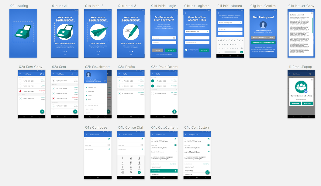 6. Visual Design  I've included the final visual designs below for Android and Mac OS X - these are full color and built in Sketch. Deliverables included character and icon design.