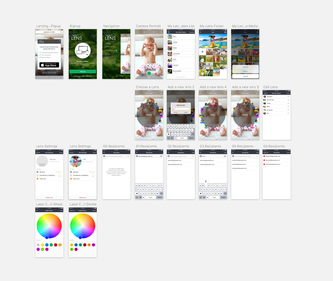 6. Visual Design  Final step before development, lay out each screen in high-fidelity for developers to begin work.
