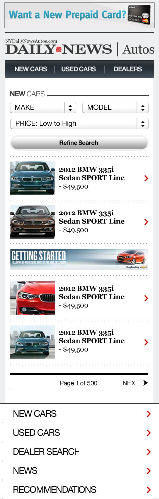 NYDN Autos - Mobile Search Results