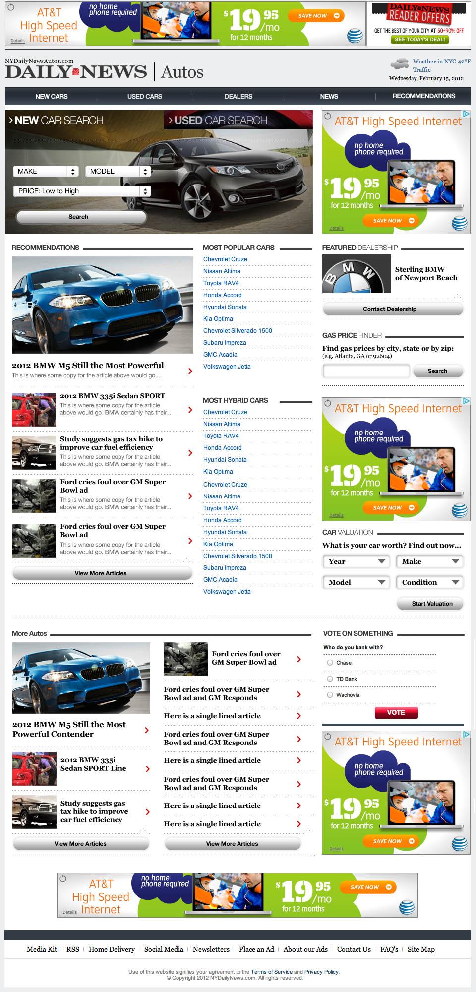 NYDN Autos - Desktop Home