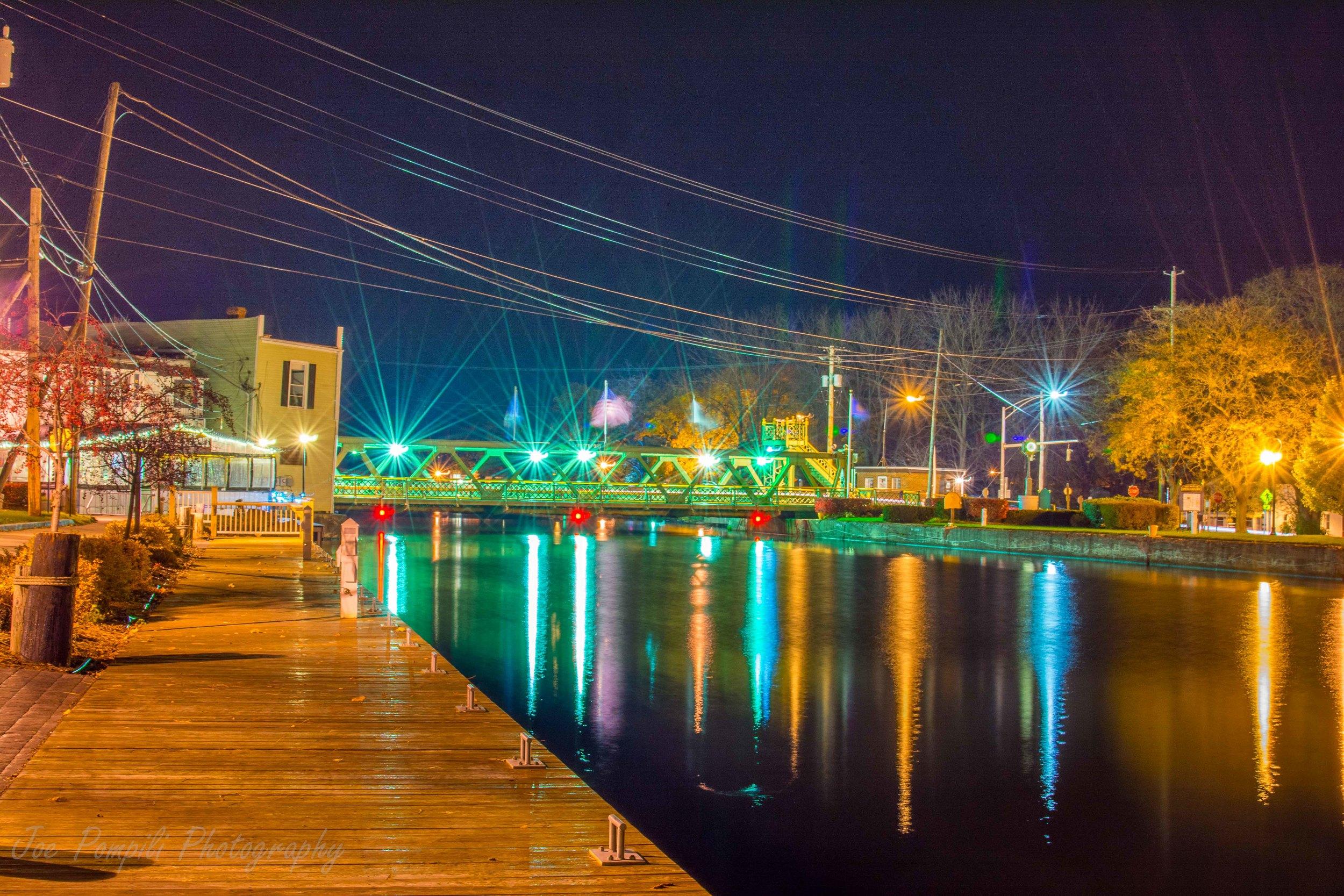 Night Bridge Looking West (#7S)